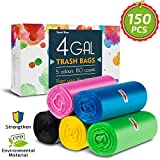 4 Gallon Trash Bags,Small Garbage Bags,Double Wave Thicken Small Trash Bags,15-Liters Bin Bags...