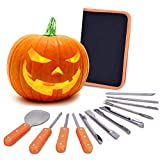 VIVREAL Halloween Pumpkin Carving Kit, 12 Pieces Heavy Duty Stainless Steel Carving Tools Set for...