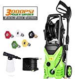 Voluker 3000 PSI Electric Pressure Washer, 1.80 GPM Power Hose Nozzle Gun and 5 Quick-Connect Spray...