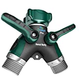 2wayz All Metal Body Garden Hose Splitter. Newly Upgraded (2017): 100% Secured, Bolted & Threaded....
