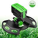 Garden Oscillating Sprinkler System, Four-Way Adjustable Lawn Sprinklers Automatic Rotation Water...
