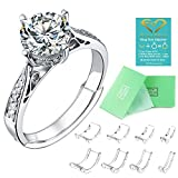 Invisible Ring Size Adjuster for Loose Rings Ring Adjuster Fit Any Rings, Assorted Sizes of Ring...