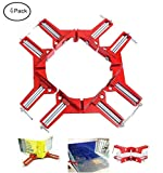 Fashionclubs 4pcs/set Right Angle Clamp,Aluminum 90-Degree Angle Miter Corner Clamp For Picture...