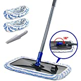 Large Area Flat Mop with 2 Mop Pads 360 Degree Magic Microfiber Floor Mop for Hardwood Floors...