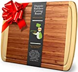 Greener Chef Extra Large Bamboo Cutting Board for Kitchen - Lifetime Replacement Boards - 18 x 12.5...