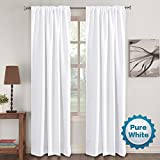 Window Treatment Curtains Insulated Thermal White Curtains Blackout Back tab/Rod- Pocket Room...