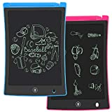 KURATU 2 Pack LCD Writing Tablet, 8.5 inch Electronic Drawing Pads for Kids, Portable Reusable...