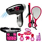 JaxoJoy Beauty Stylist Set - Complete Play Pretend Hair Salon Station Gift Playset for Girls with...