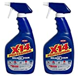 2-Pack X-14 Professional Instant Mildew Stain Remover, Trigger Spray 32 oz