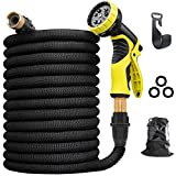 Aterod 75 feet Expandable Garden Hose, Extra Strength Fabric, Flexible Expanding Water Hose with 9...