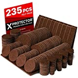 X-PROTECTOR Premium Giant Pack Furniture Pads 235 Piece! Great Quantity of Felt Pads Furniture Feet...