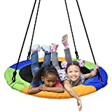 PACEARTH 40'' Saucer Tree Swing Flying 660lb Weight Capacity 2 Added Hanging Straps Adjustable...