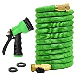 Glayko Tm 50 Feet Expandable Garden Hose - New 2018 Super Strong Construction- Strong Webbing -Solid...