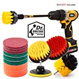 Holikme 14Piece Drill Brush Attachments Set, Scrub Pads & Sponge, Power Scrubber Brush with Extend...
