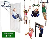 Gym1 Deluxe Indoor Playground with Indoor Swing, Plastic Rings, Trapeze Bar, Climbing Ladder, and...