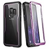 YOUMAKER Crystal Clear Case for Galaxy S9 5.8 inch, Full Body with Built-in Screen Protector Heavy...