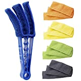 Hiware Window Blind Cleaner Duster Brush with 5 Microfiber Sleeves - Blind Cleaner Tools for Window...