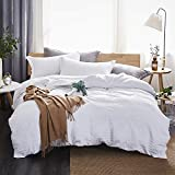 Dreaming Wapiti Duvet Cover Queen,100% Washed Microfiber 3 Piece Bedding Sets, Solid Color-Soft and...