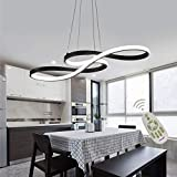 Modern LED Acrylic Chandelier Dining Room Dimmable 3000K~6500K Remote Control Pendant Lights...