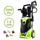 3000 PSI Pressure Washer 1.8GPM Power Washer Electric Pressure Washer Cleaner Machine with Hose Reel...