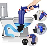 Thinvik Power Toilet Plunger Set Drain Clog Remover Tool Drain Snake Tub Drain Cleaner Opener Air...