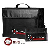 ROLOWAY Large (17'x12'x5.8') Fireproof Bag, Upgraded XL Fireproof Document Bags with Bonus Bag,...