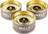 Melt Candle Company Set of 3 Outdoor Citronella Candles with Mosquito Repellent Deet-Free Emergency...
