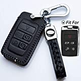 Hey Kaulor Full Protection Soft Leather Smart keyless Entry Remote Key Fob case Cover Keychain for...