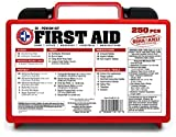 'Be Smart Get Prepared 250 Piece First Aid Kit, Exceeds OSHA ANSI Standards for 50 People - Office,...