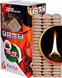 Fire Starter Squares - 100pc Fire Starters for Fireplace and Camping - Charcoal Starter Cubes for...