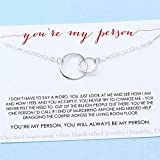 You are My Person • Best Friend Gift • Two Connected Circles Necklace • Sterling Silver •...