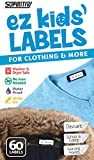 Stick-On Clothing Labels, Supiritiv All Purpose Ez Kids' and Adult's Labels, Stick-On No-Iron,...