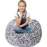 Stuffed Animal Storage Bean Bag - Cover Only - Large Beanbag Chairs for Kids - 90+ Plush Toys Holder...