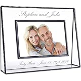 J Devlin Pic 319-46H EP553 Personalized Anniversary Picture Frame Engraved Glass 4x6 Horizontal...