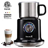 Revelux Milk Frother- 24oz Large Milk Frother Electric,Easy Clean Stainless Steel Jug, Cold and Hot...