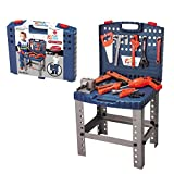 68 Piece Kids Toy Workbench W Realistic Tools and Electric Drill for Construction Workshop Tool...