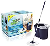 Twist and Shout Mop - 2019 Edition - Award-Winning Original Hand Push Spin Mop - Life Time Warranty...