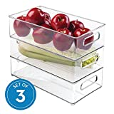 iDesign Plastic Refrigerator and Freezer Storage Bin with Lid, BPA- Free Organizer for Kitchen,...