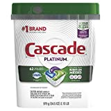 Cascade Platinum ActionPacs Dishwasher Detergent, Fresh, 62 Count (Packaging May Vary)