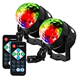 Litake Party Lights Disco Ball Strobe Light Disco Lights, 7 Colors Sound Activated with Remote...