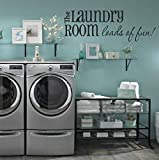 Laundry Room Wall Decals - Loads of Fun 40' W X 14' H - Choose From Over 21 Color Choices!! Laundry...