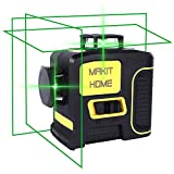 Laser Level,3D Green Beam Self Leveling Laser Level Three-Plane Leveling and Alignment-3x360 Cross...