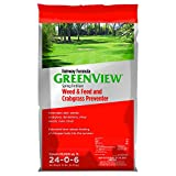 GreenView Fairway Formula Spring Fertilizer Weed & Feed Plus Crabgrass Preventer, 36 lb bag, Covers...