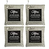 4-Pack Activated Bamboo Deodorizers, 200g Natural Odor Eliminators, Charcoal Grey-Colored Air...