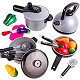iPlay, iLearn Kids Kitchen Pretend Play Toys, Cooking Set, Pots and Pans, Cookware Playset, Healthy...
