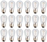Newhouse Lighting S14LED18 Outdoor 2W S14 Vintage LED Filament Replacement String Light Bulbs...