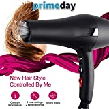 [UPGRATED]2019 Hair Dryer 2000W Negative Ionic Blow Dryer Professional Salon Fast Drying Far...
