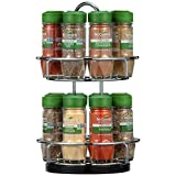 McCormick Two Tier Chrome Organic Spice Rack (Perfect Holiday Gift for your Favorite Cheif or Baker)