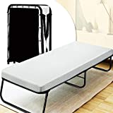 Quictent Heavy Duty Folding Bed with Two Extra Support Belts, 300 lbs Max Weight Capacity, Guest...