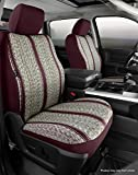 FIA TR49-43 Custom Fit Cover, Front Bucket Seats-Saddle Blanket, (Gray)